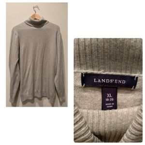Land's End Light Gray Turtle Neck Sweater